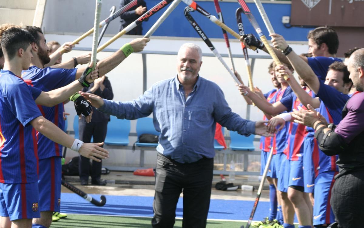 Empate ante el Terrassa en el partido de homenaje a Ferran Salvadó