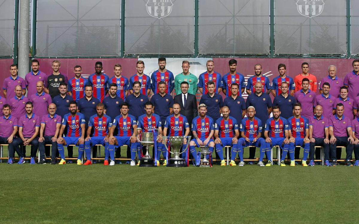 FC Barcelona official photo for the season