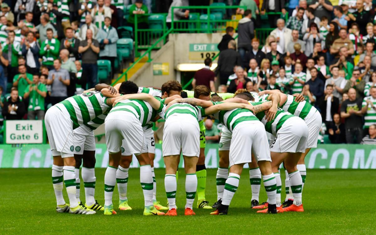 El Celtic goleja en el derbi escocès abans de visitar el Barça