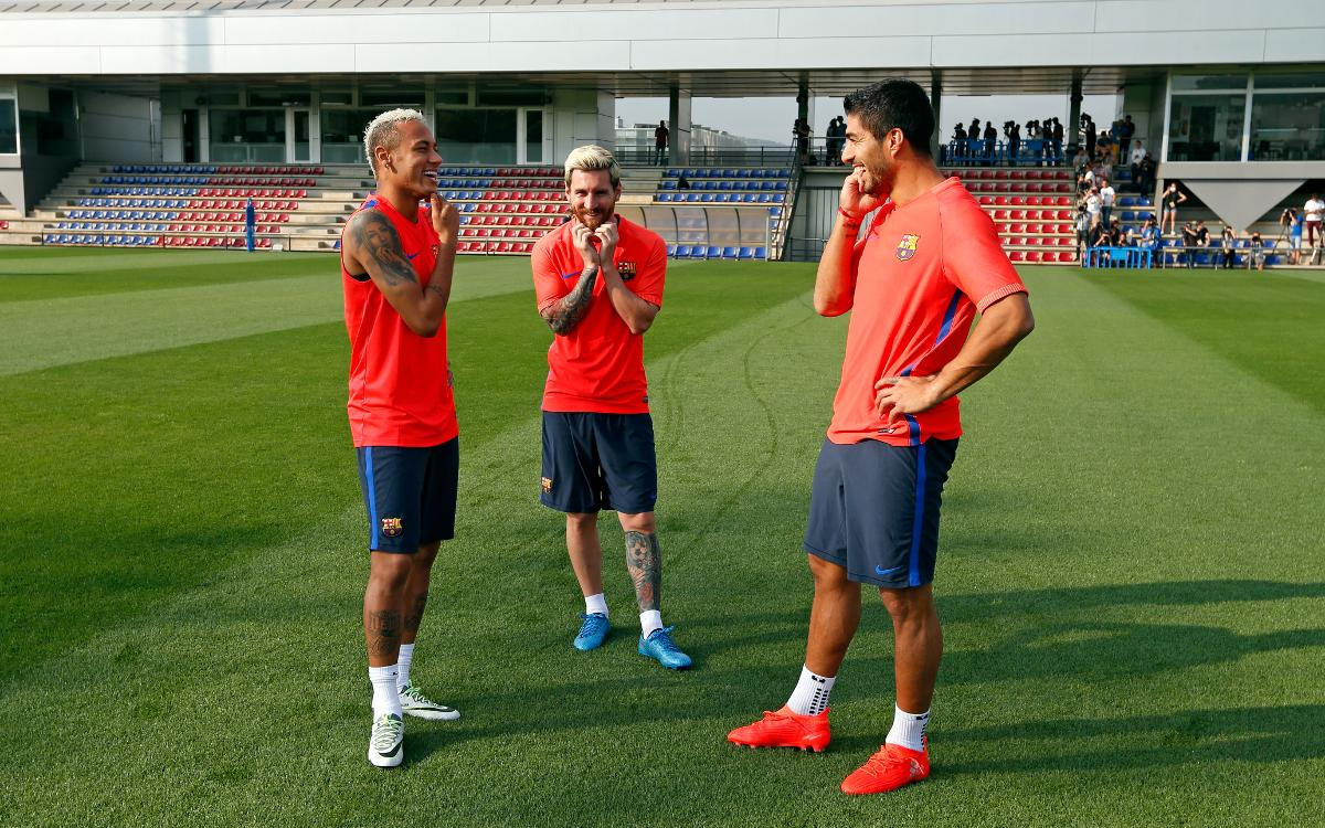 Trident back together in Friday's training session