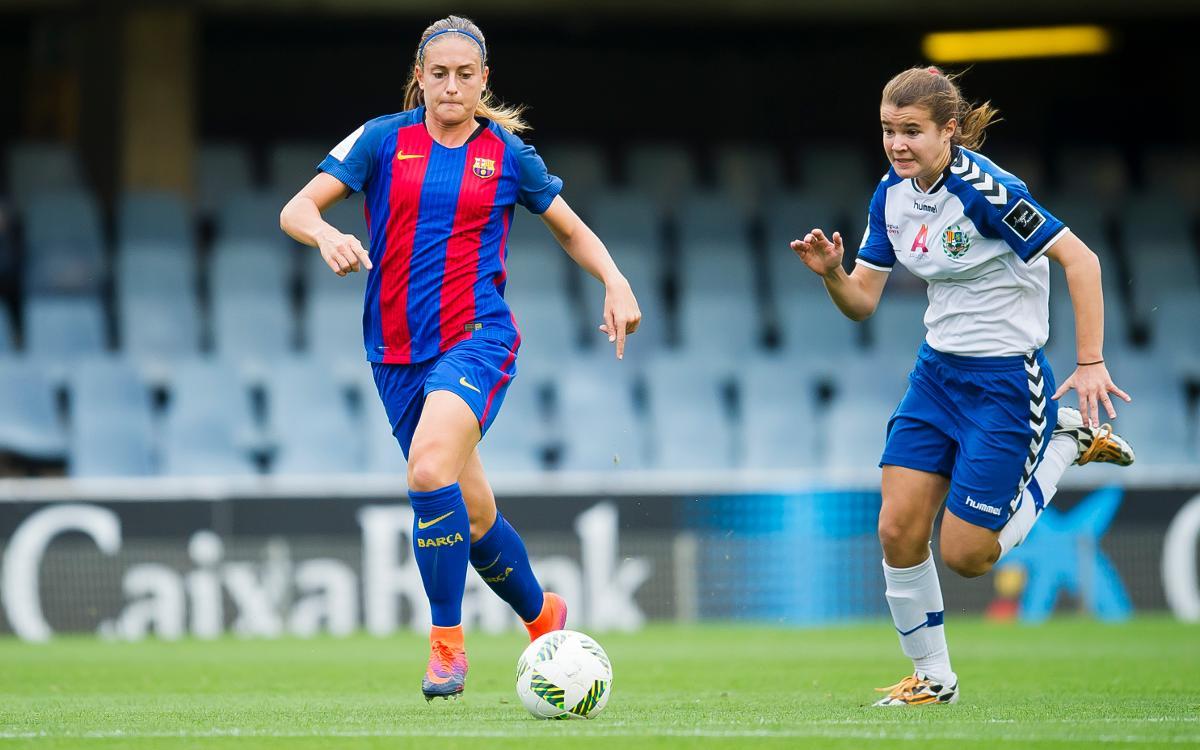 FC Barcelona Femenino - Zaragoza CFF: Goleada muy trabajada para encarar la vuelta de Champions (3-0)