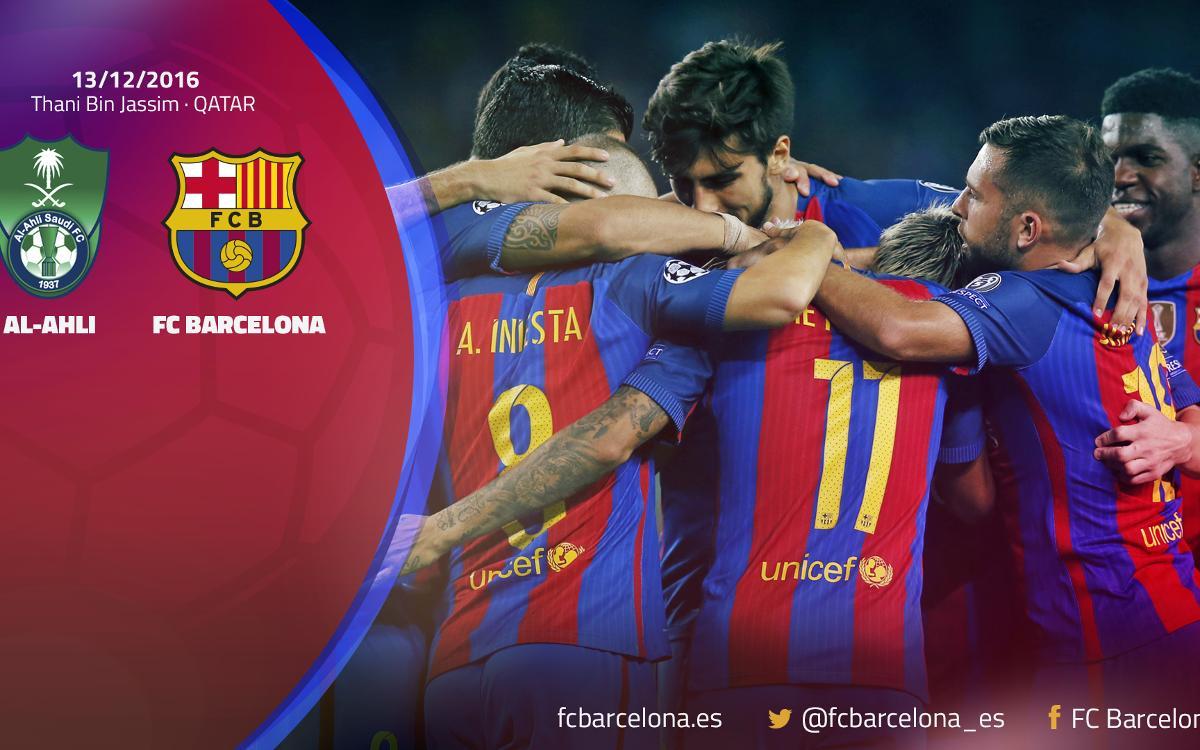 El FC Barcelona jugará el 13 de diciembre un amistoso en Doha ante el Al-Ahli Saudi FC