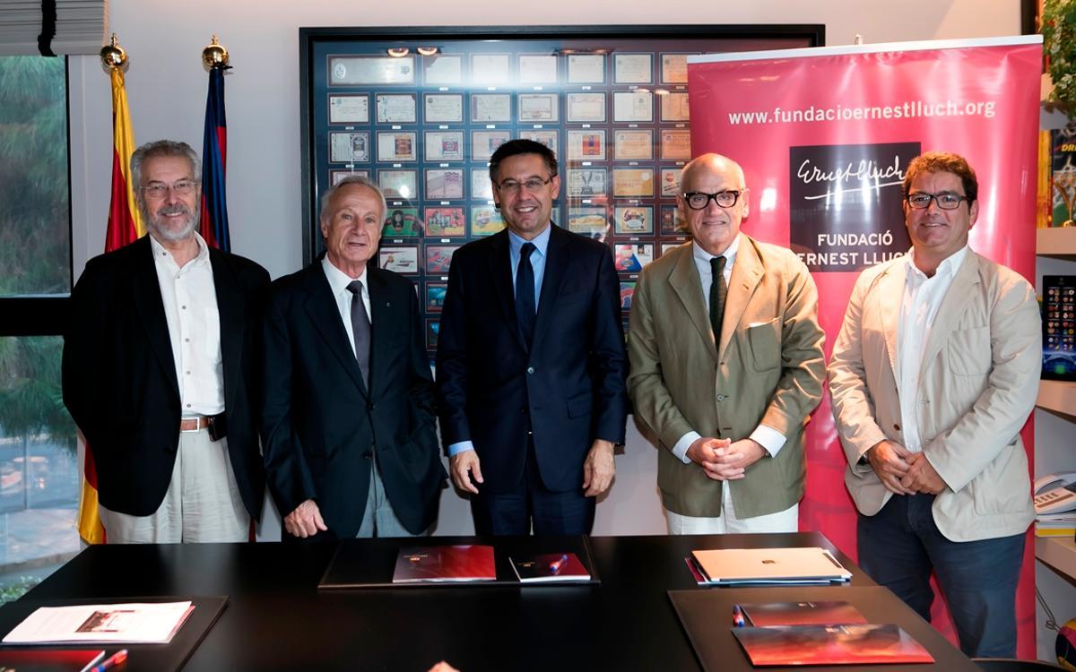 El FC Barcelona y la Fundación Ernest Lluch prorrogan su acuerdo de colaboración