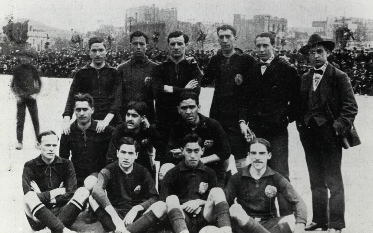 January 1914: FC Barcelona's first ever game with Atlético Madrid