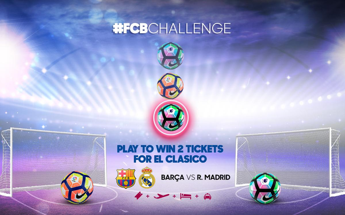 Barça launch a competition to win tickets for Clásico