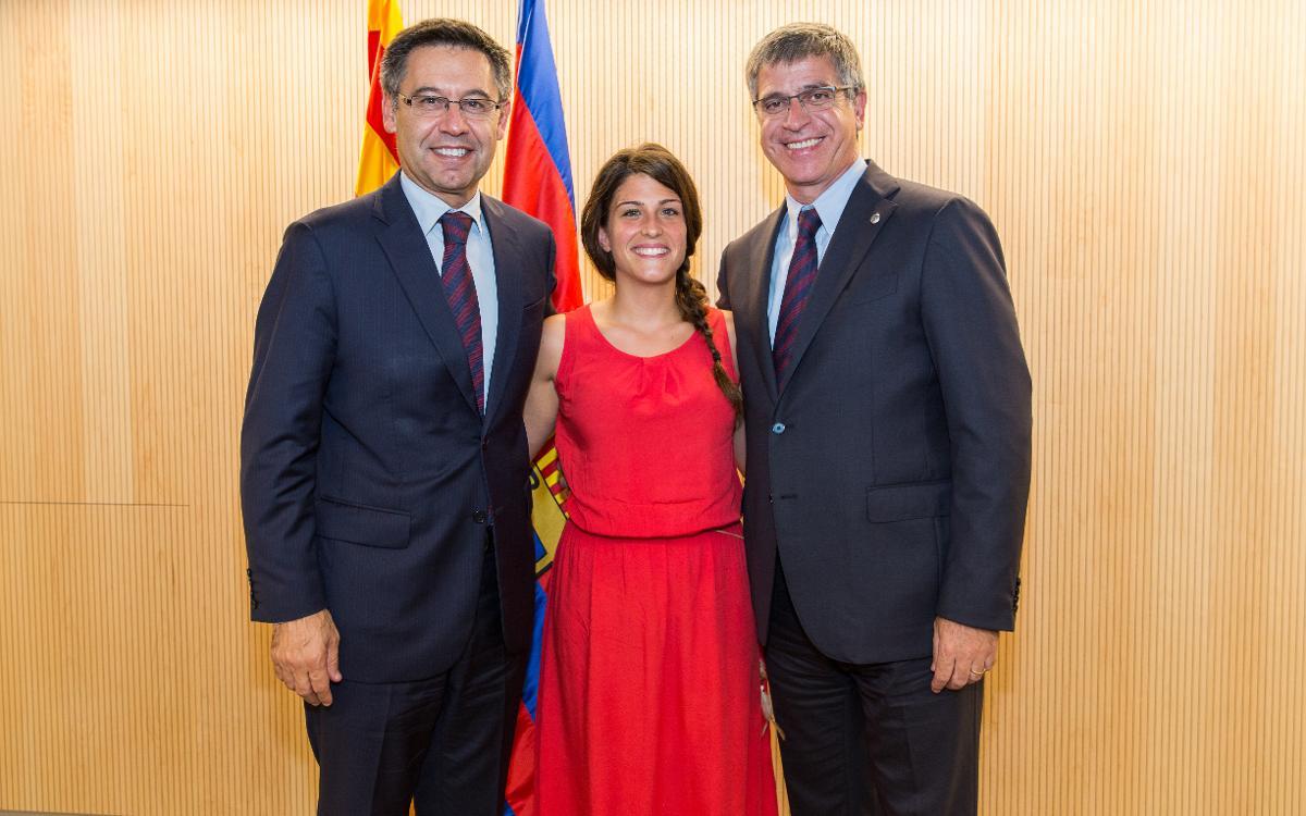 El FC Barcelona reconeix l'àrbitra catalana Marta Galego el seu posicionament després de rebre un insult masclista