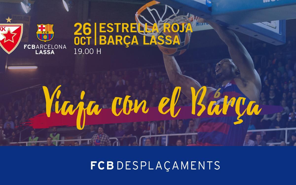 Viaje a Belgrado para animar al equipo de baloncesto en la Euroliga