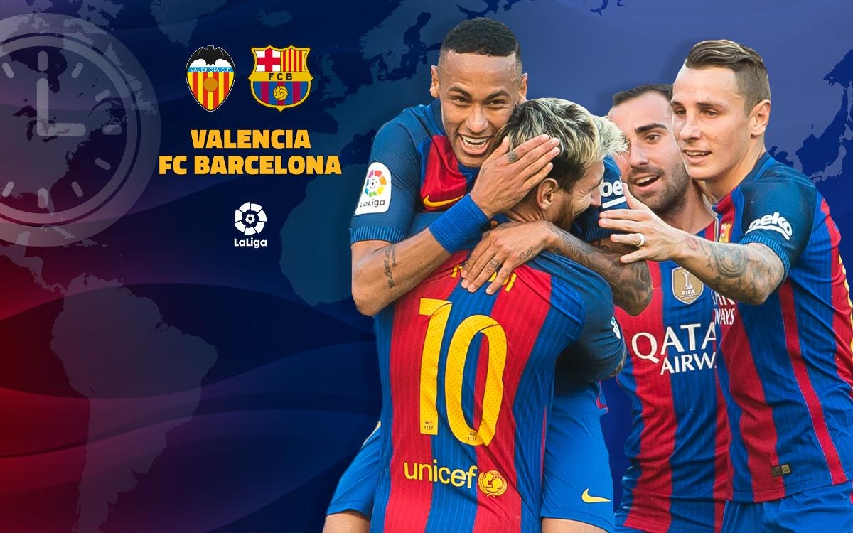 When and where to watch Valencia v FC Barcelona in Week 9 of La Liga