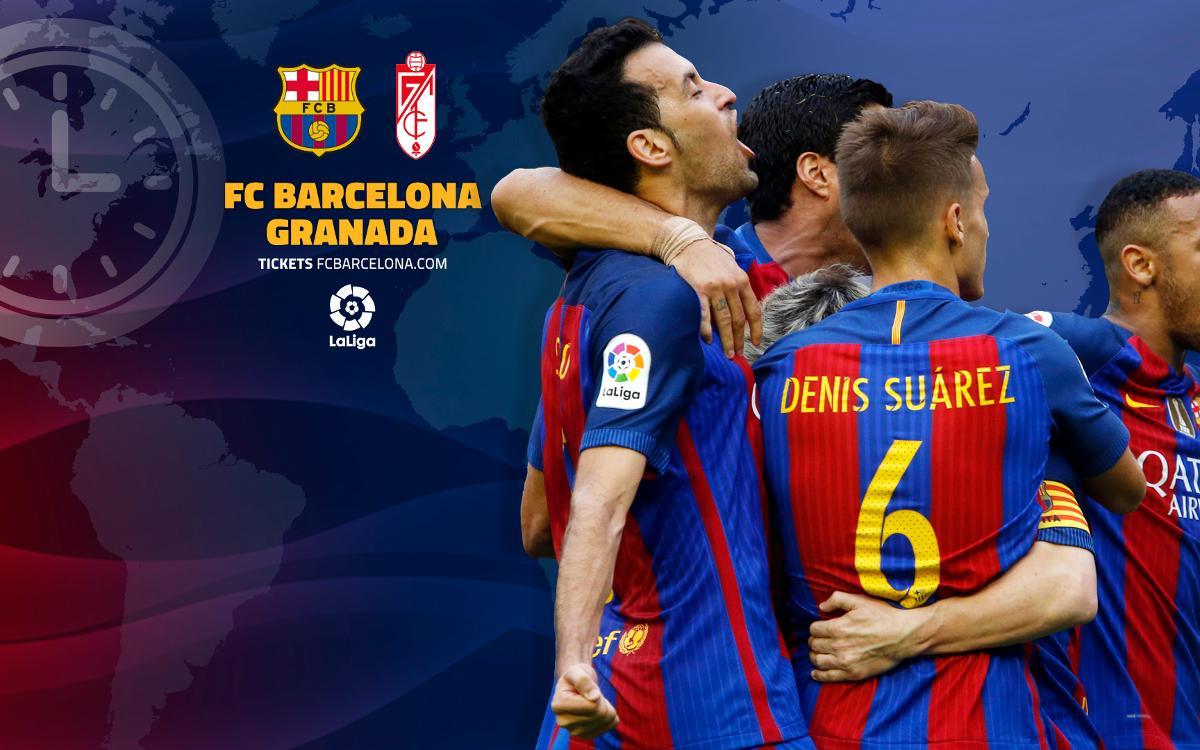Quan i on es pot veure el FC Barcelona – Granada
