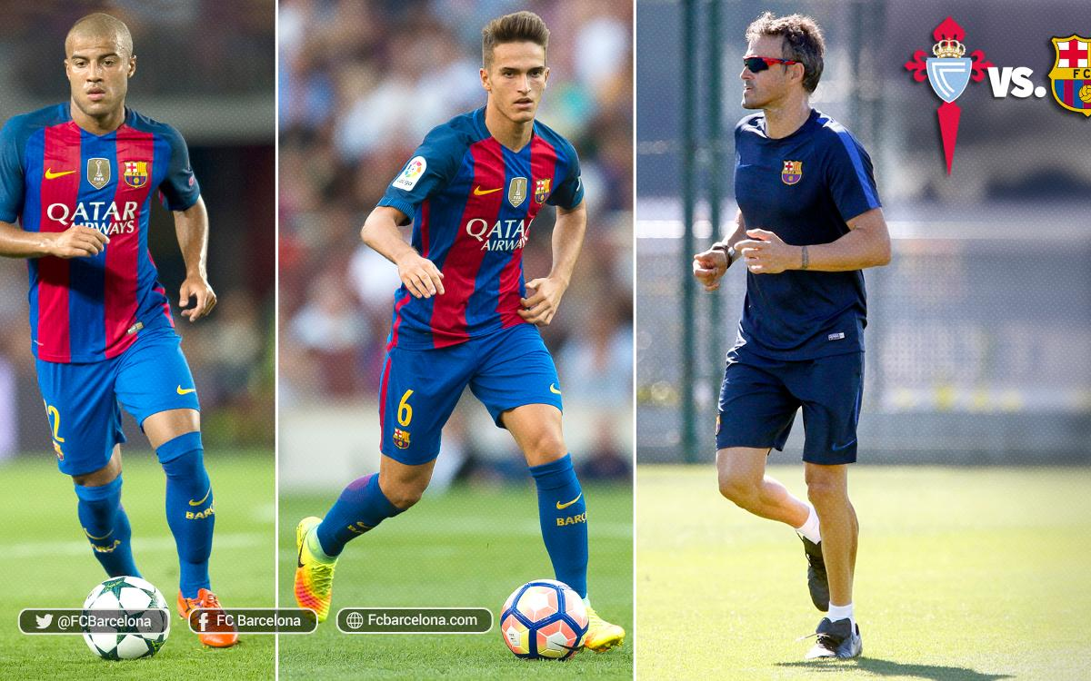 Luis Enrique, Denis and Rafinha return to Balaídos
