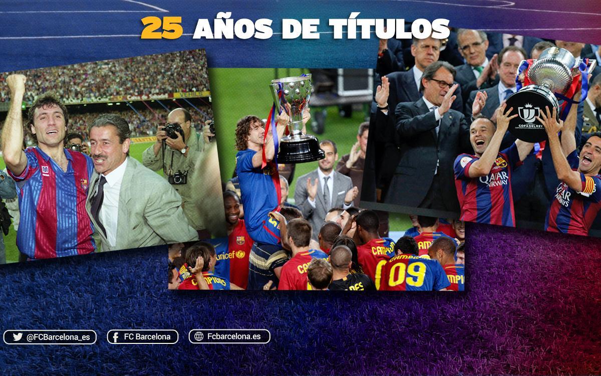25 años de títulos culés