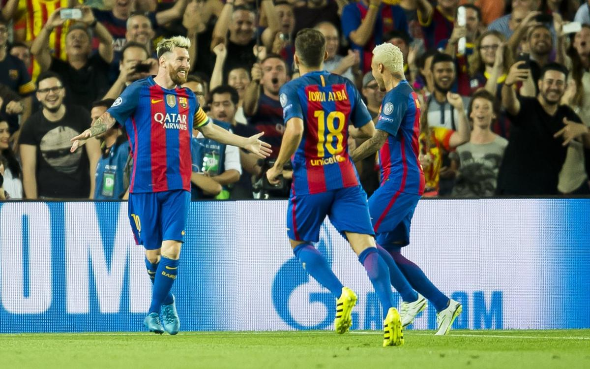 FC Barcelona open Champions League play with a 7–0 rout of Celtic FC