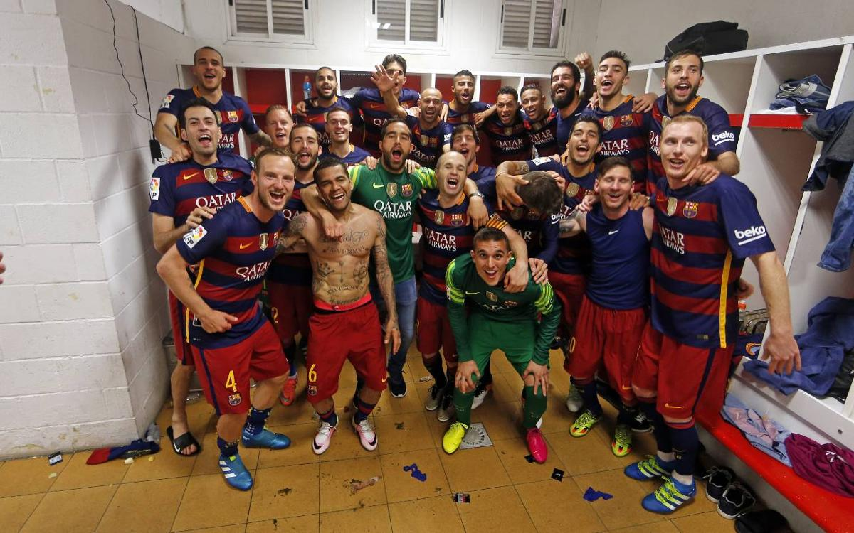 Relive the day FC Barcelona clinched the Liga title in Granada