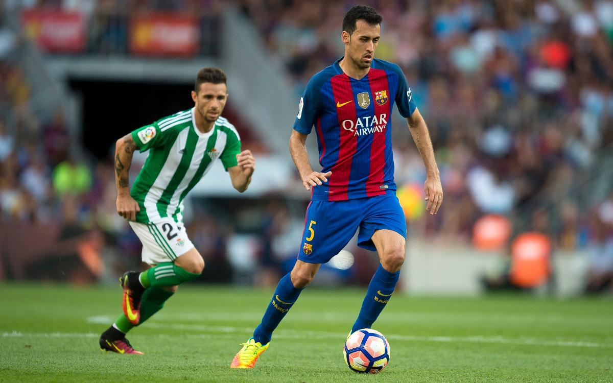 La signatura de la renovació de Sergio Busquets amb el FC Barcelona, aquest dijous