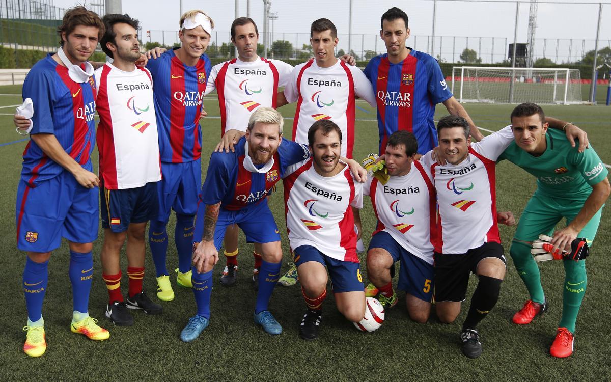 Le Barça, uni pour l'intégration par le sport
