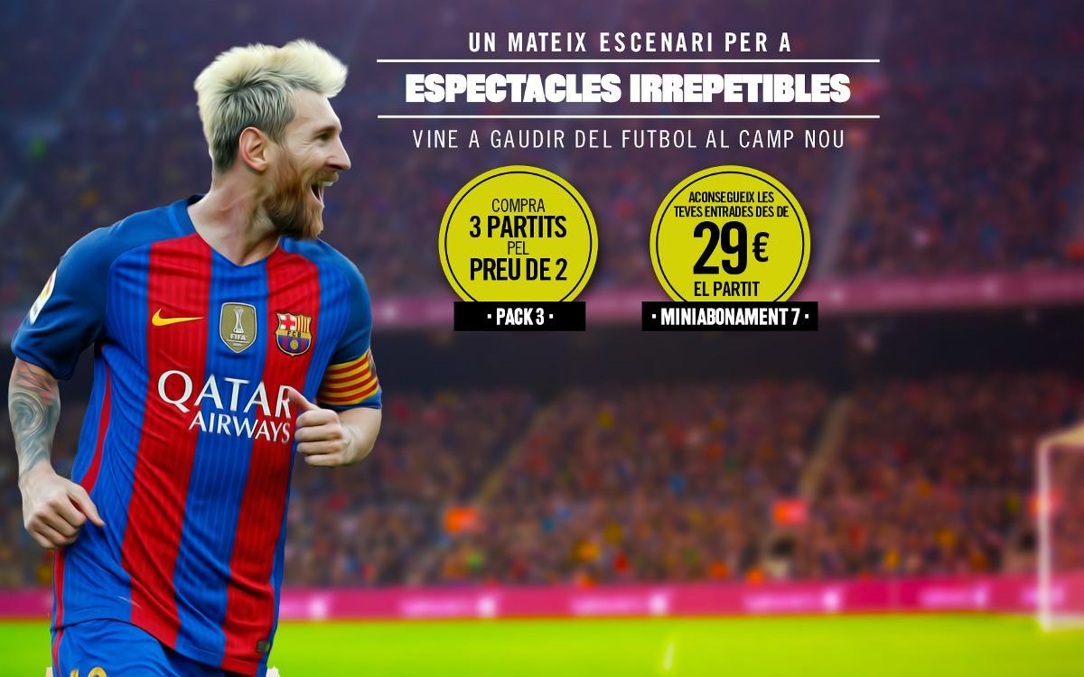 Els socis ja poden adquirir els packs d'entrades per al Camp Nou