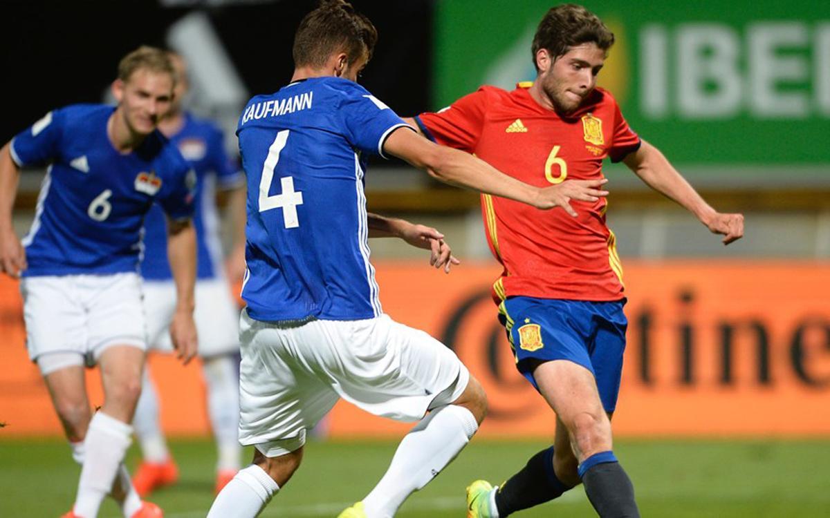 Sergi Roberto y Rakitic golean con sus selecciones