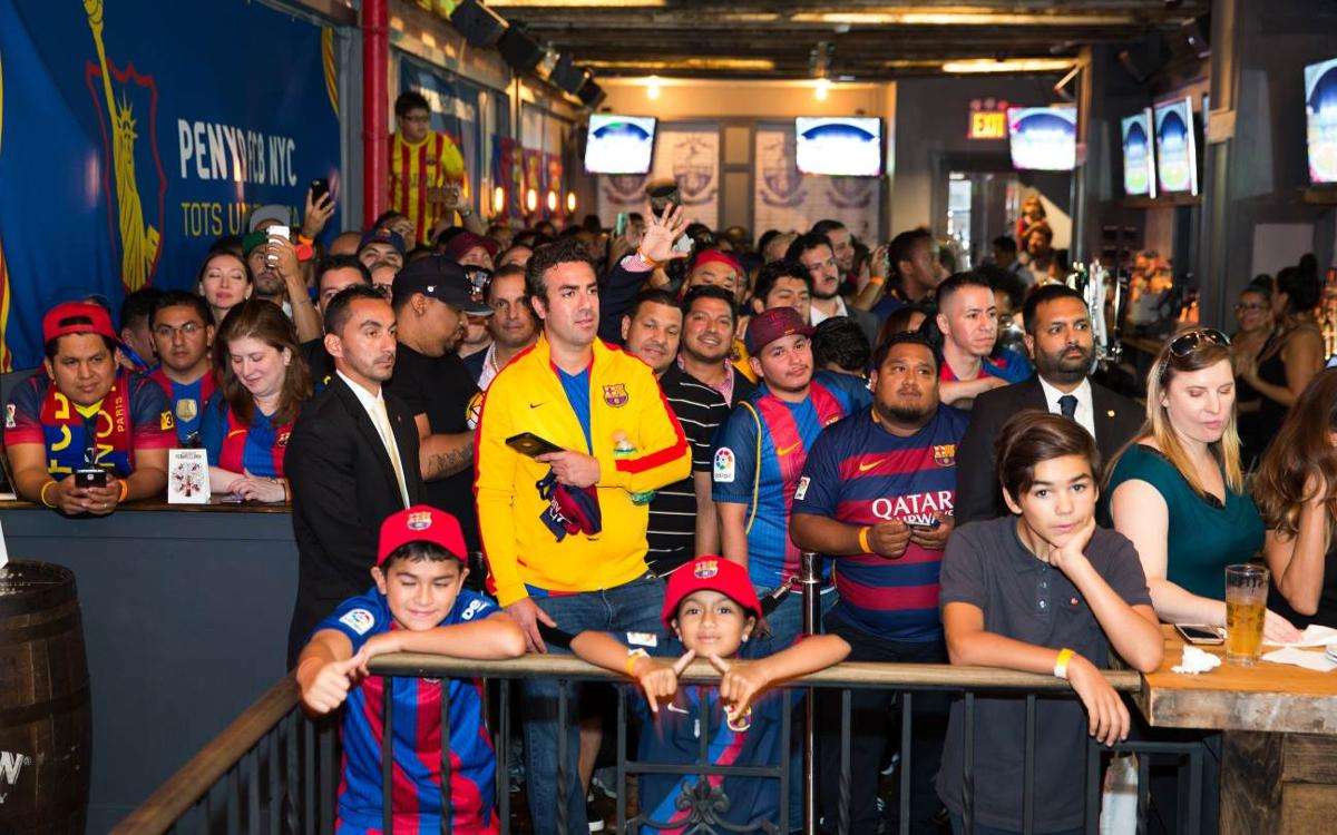 FC Barcelona Supporters Club in New York City receives Club delegation at Smithfield Hall
