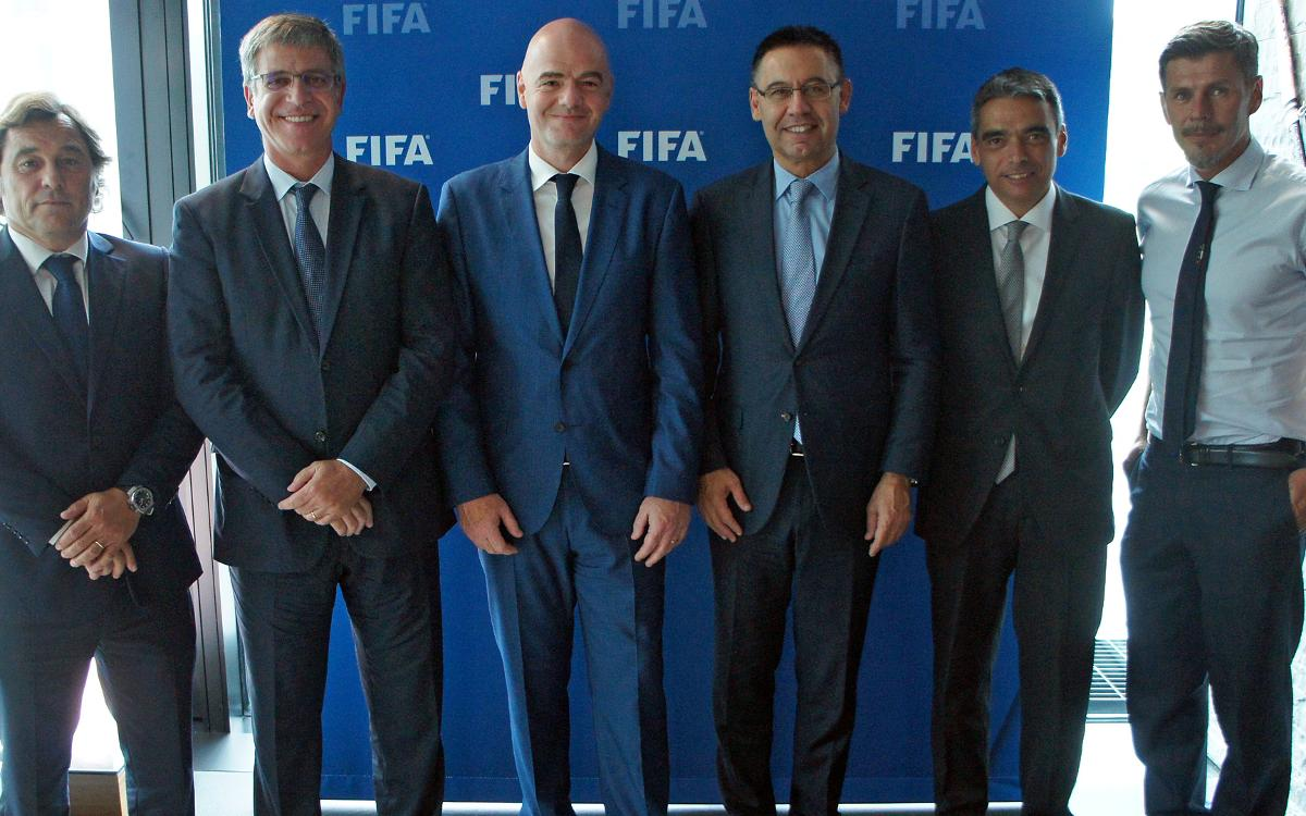 Institutional meeting with the president of FIFA