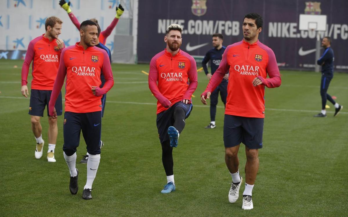 FC Barcelona squad prepare for Granada