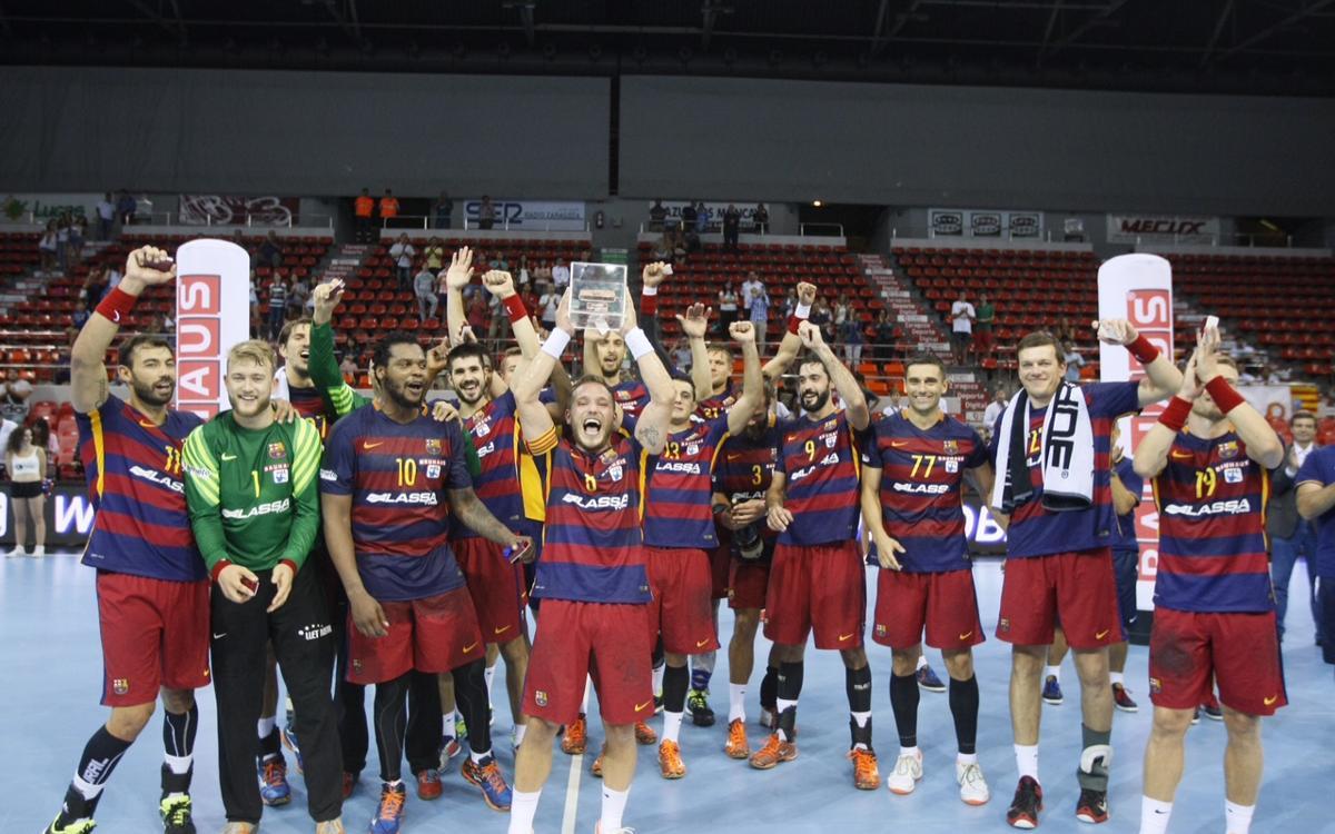 El Barça de balonmano y la Supercopa Asobal