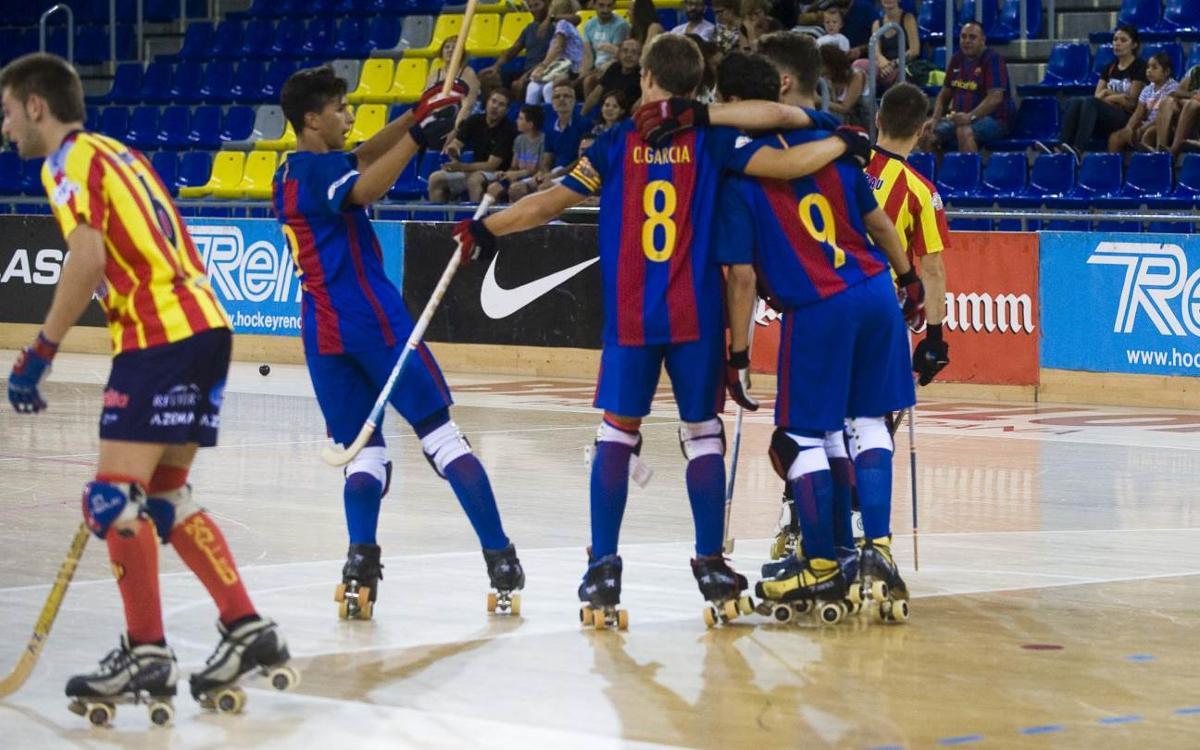FC Barcelona Lassa B – CP Manlleu: Victòria final del filial i a semifinals (5-4)