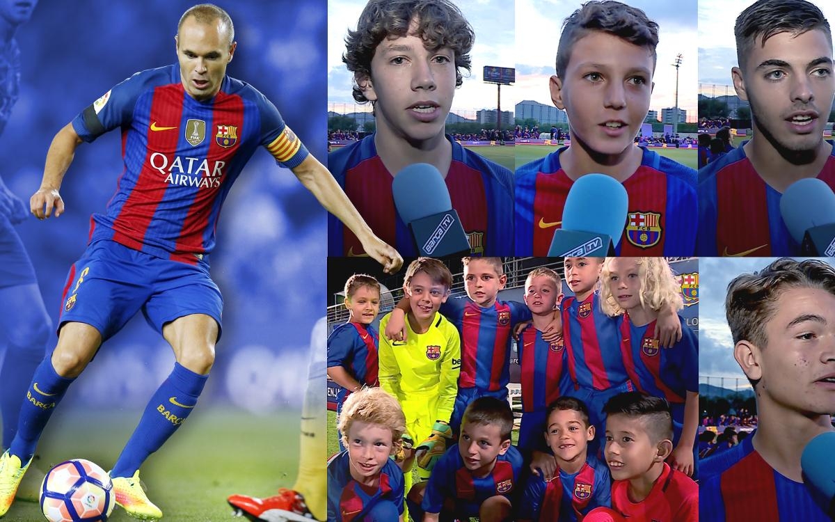 FC Barcelona academy players shower Iniesta with praise after new milestone