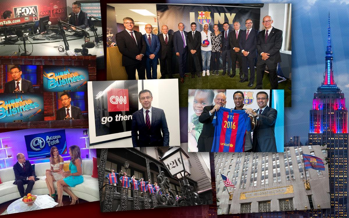 L'arrivée du Barça à New York fait le buzz au niveau mondial