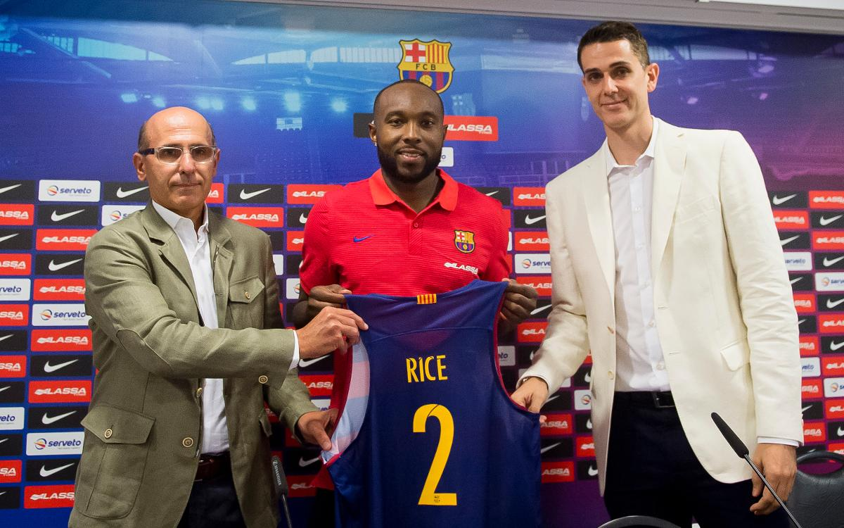 Tyrese Rice presented as new FC Barcelona Lassa point guard