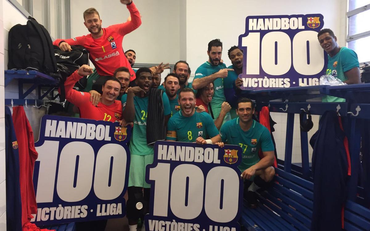 BM Sinfín - FC Barcelona Lassa: ¡Cien victorias consecutivas en la Liga! (22-27)