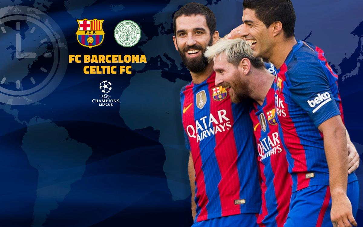 When and where to watch FC Barcelona v Celtic