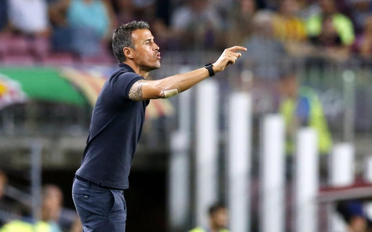 Luis Enrique happy for the fans