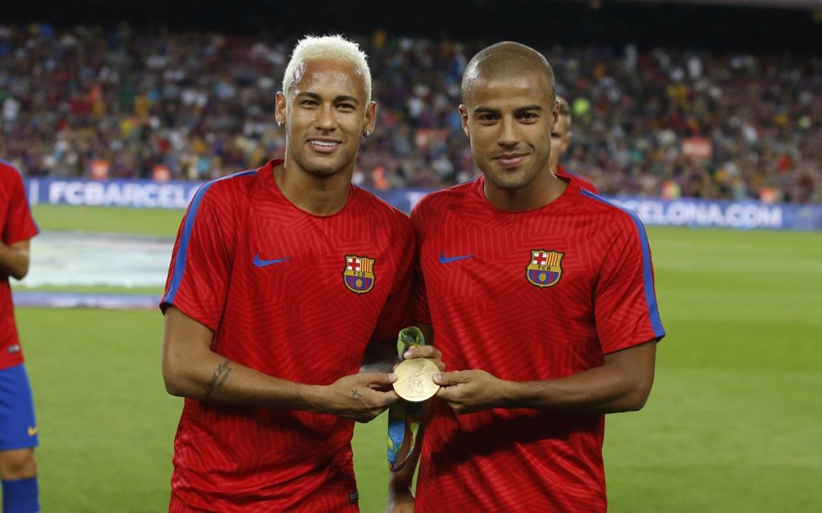 Recognition for Neymar Jr and Rafinha for Rio gold