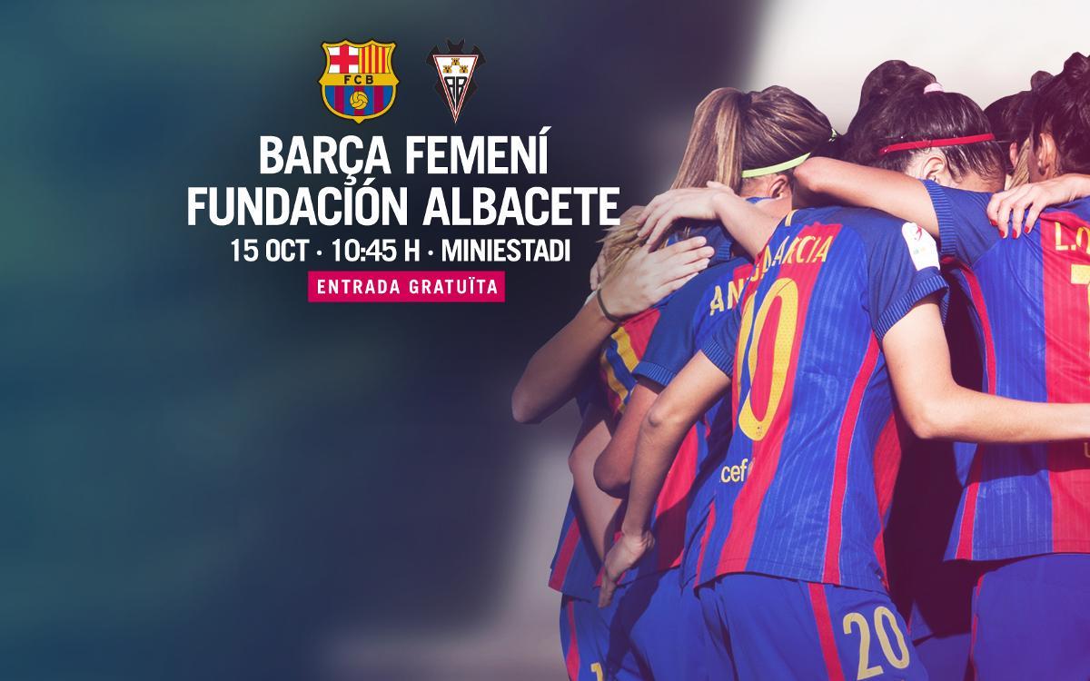 FC Barcelona Femenino - Fundación Albacete (previa): Un esfuerzo más en el Mini