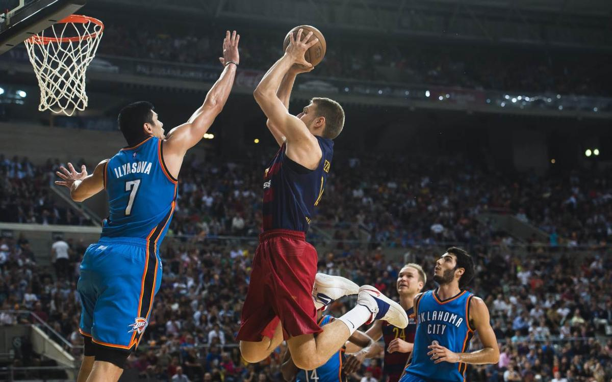 FC Barcelona Lassa v Oklahoma City Thunder: Exhibition game almost ends in victory, 92–89