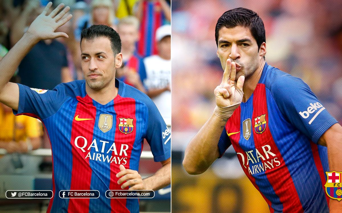Two FC Barcelona players surpass 1,000 minutes played this season