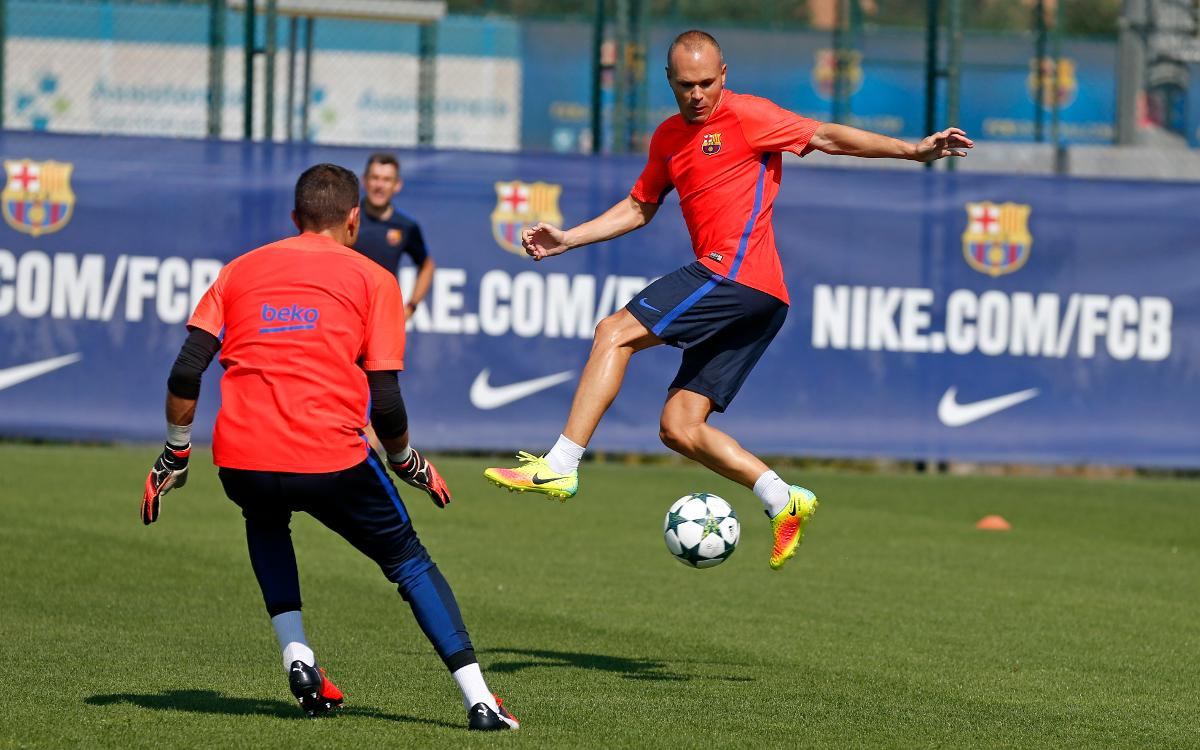 Training session ahead of Champions League tie
