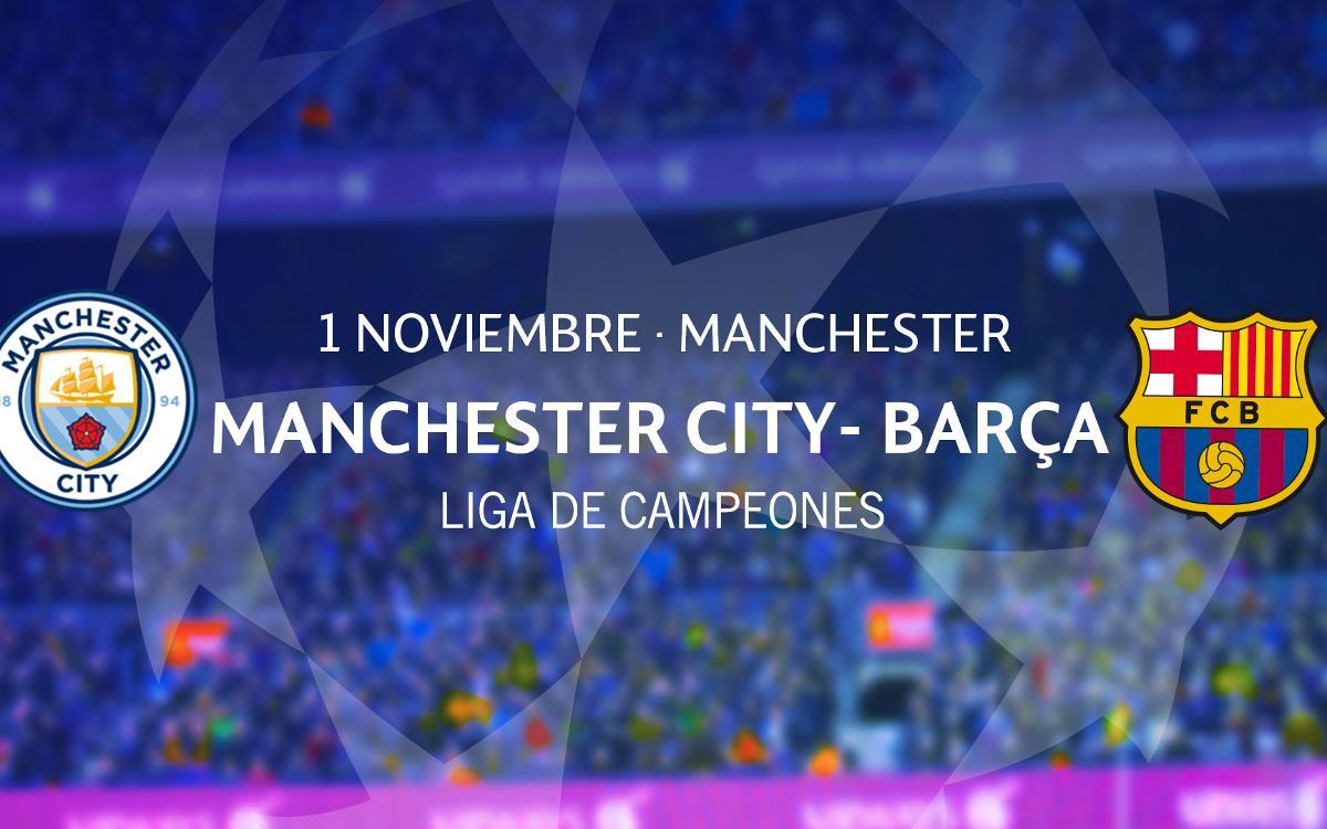 Entradas Manchester City – Barça de Liga de Campeones