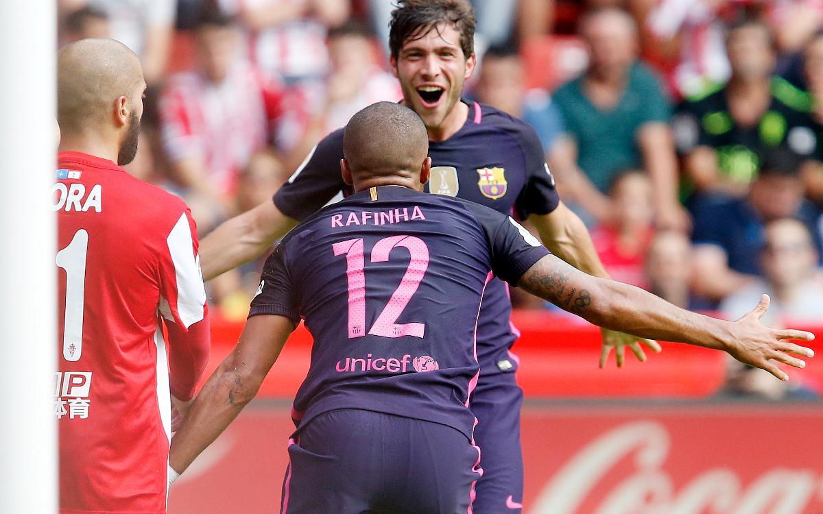 Sporting Gijón v FC Barcelona: Barça prove a handful at El Molinón (0-5)
