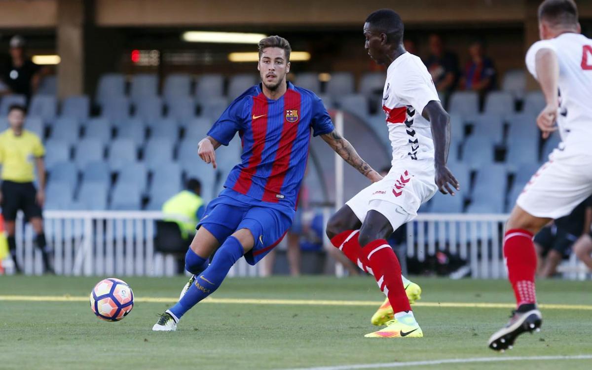 Debuts oficiales de Abeledo y Guillemenot con el Barça B
