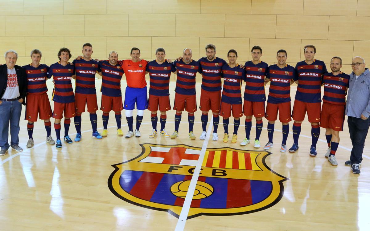 Els exjugadors del Barça de futbol sala, en marxa