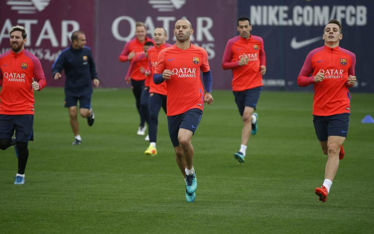 FC Barcelona get straight back to training for Saturday's trip to Valencia