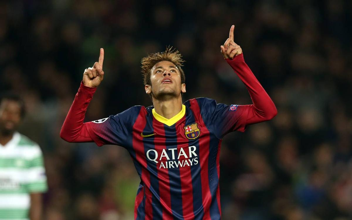 El dia que Neymar Jr va fer un hat-trick al Celtic