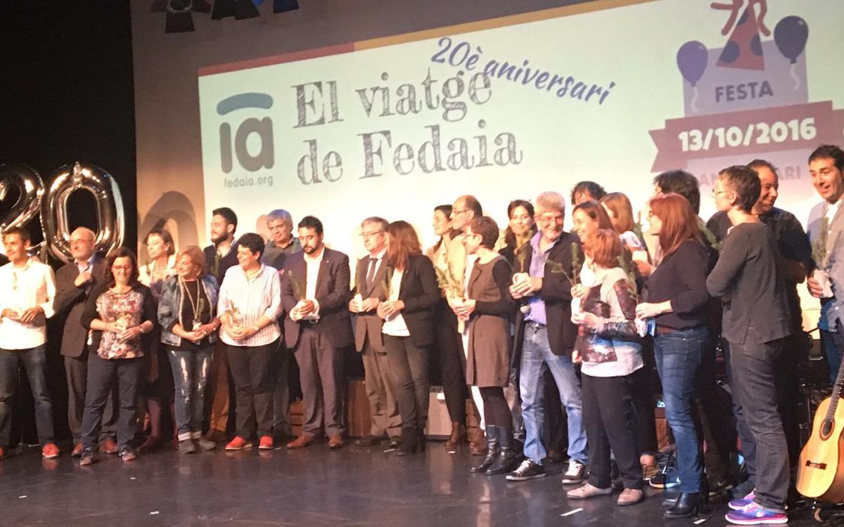El Barça, presente en la fiesta de celebración del 20 aniversario de FEDAIA
