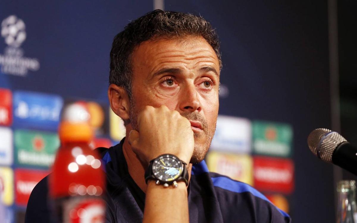 DIRECTO - Rueda de prensa de Luis Enrique previa al partido contra el Manchester City