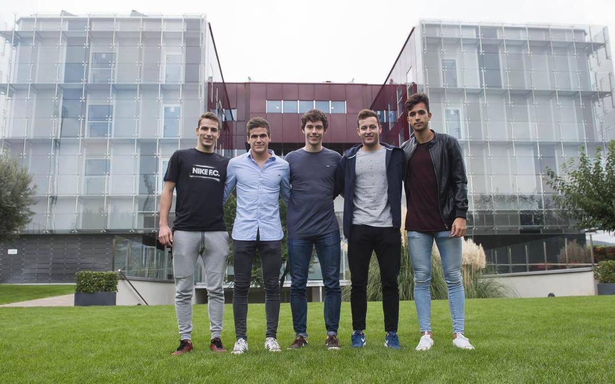 Cinc jugadors de La Masia, a punt per disputar l'Europeu sub-20