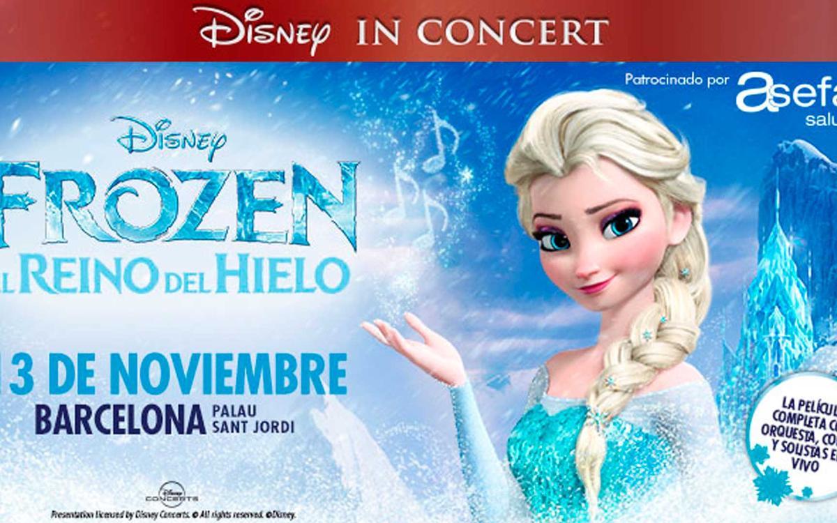 'Disney In Concert: Frozen, el Reino del Hielo' en el Palau Sant Jordi con descuento para socios