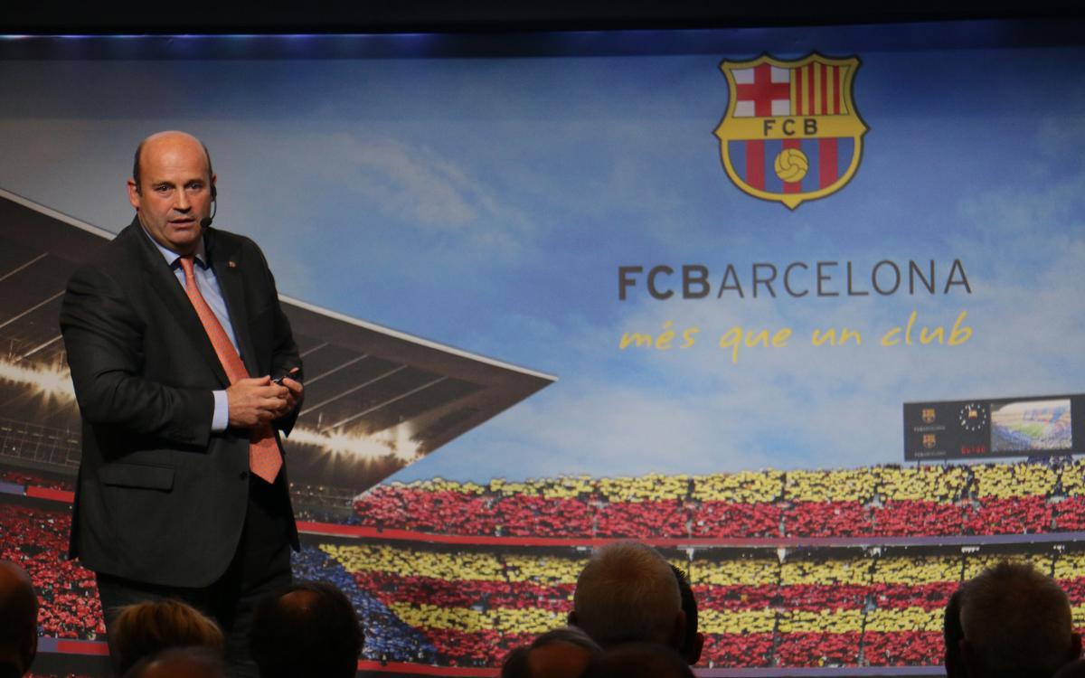 Òscar Grau, CEO del FC Barcelona, presenta l'organigrama del club
