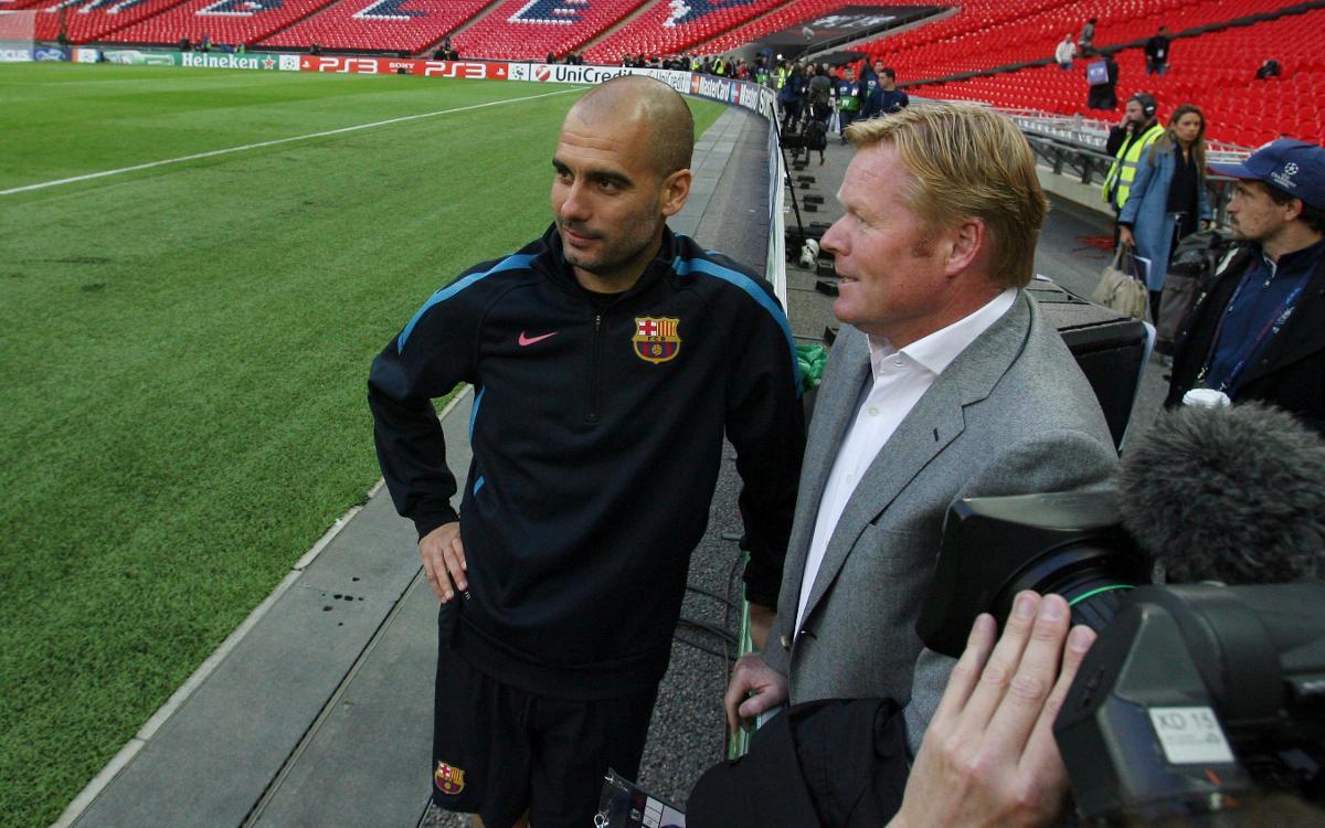 Guardiola i Koeman se citen a Manchester abans de la Champions