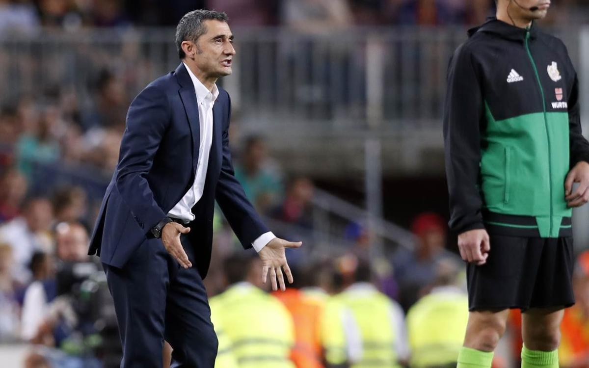 "Valverde: ""Hemos sabido tener paciencia"""